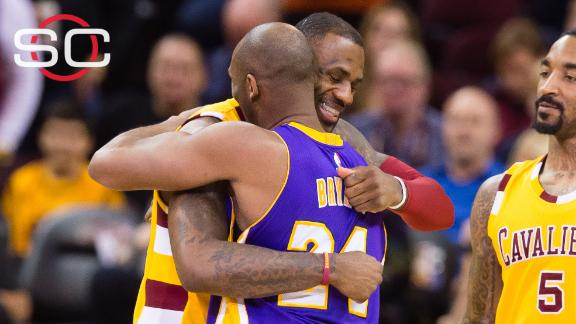 Kobe's final game in Cleveland comes in a loss