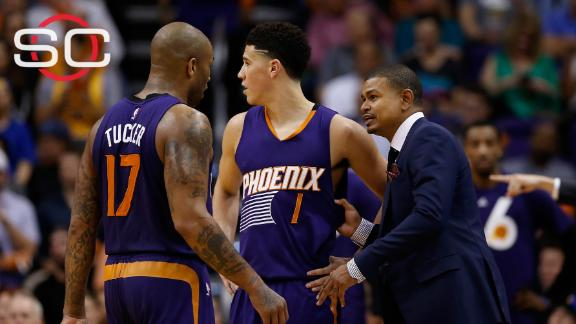 Tempers flare up on Suns' bench, Warriors now 48-4