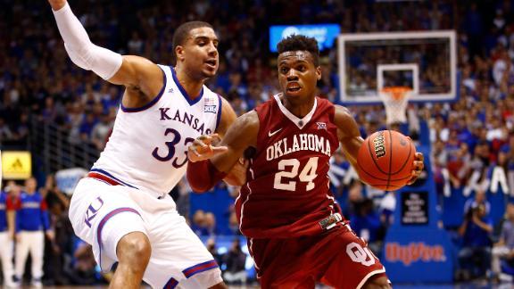 Watch live: No. 3 Oklahoma battling No. 6 Kansas