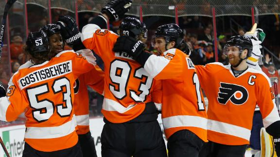 Huge second period boost Flyers past Sabres