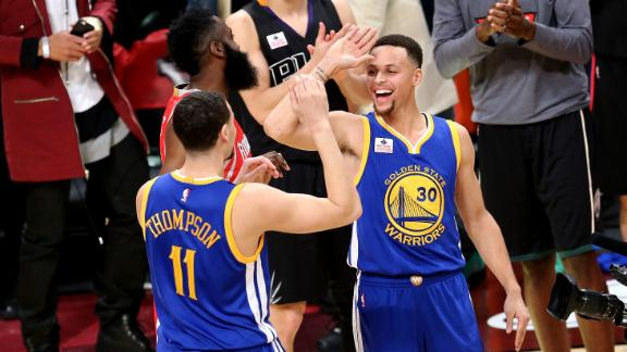 Thompson outduels Curry, wins 3-point shootout