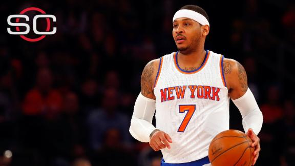 Carmelo Anthony dismisses trade rumors: 'I'm not going anywhere'