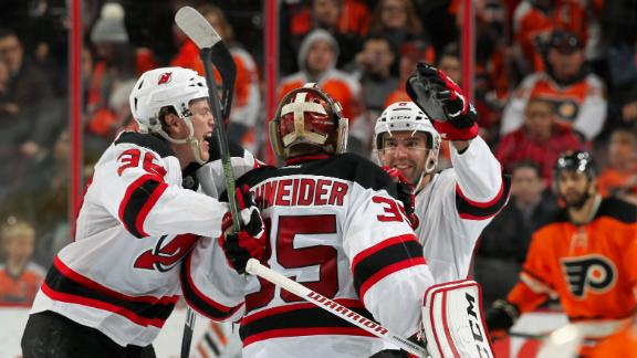 Devils beat Flyers in overtime