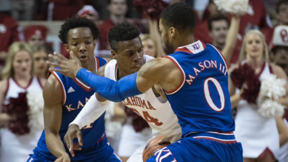 Devonte' Graham's career-high 27 leads Jayhawks past Sooners