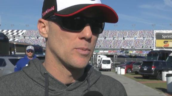 Earnhardt video-bombs and bunny hops behind Harvick