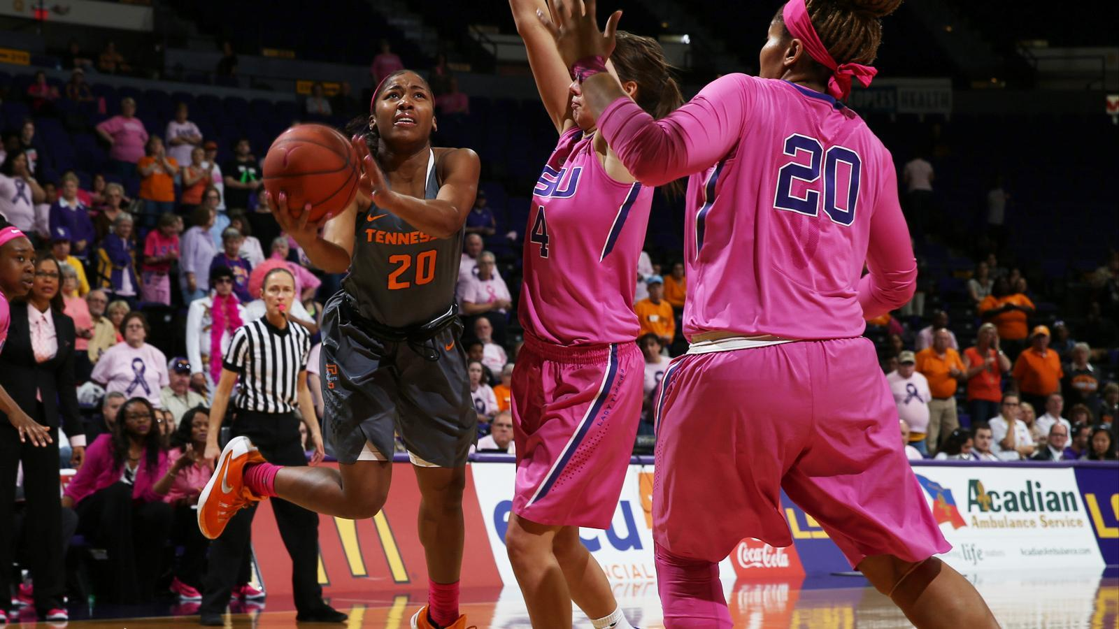 Tigers upset No. 24 Lady Vols 57-56