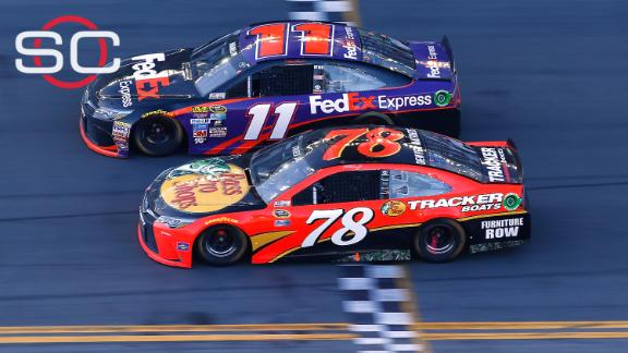 Hamlin beats Truex by a nose to win Daytona 500