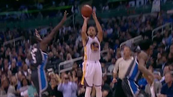 Curry hits 3-pointer in record 128th straight game