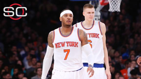 Porzingis doesn't want to lose mentor Melo
