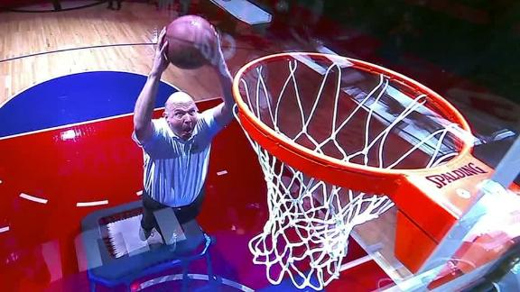 Steve Ballmer throws down a dunk -- with some help