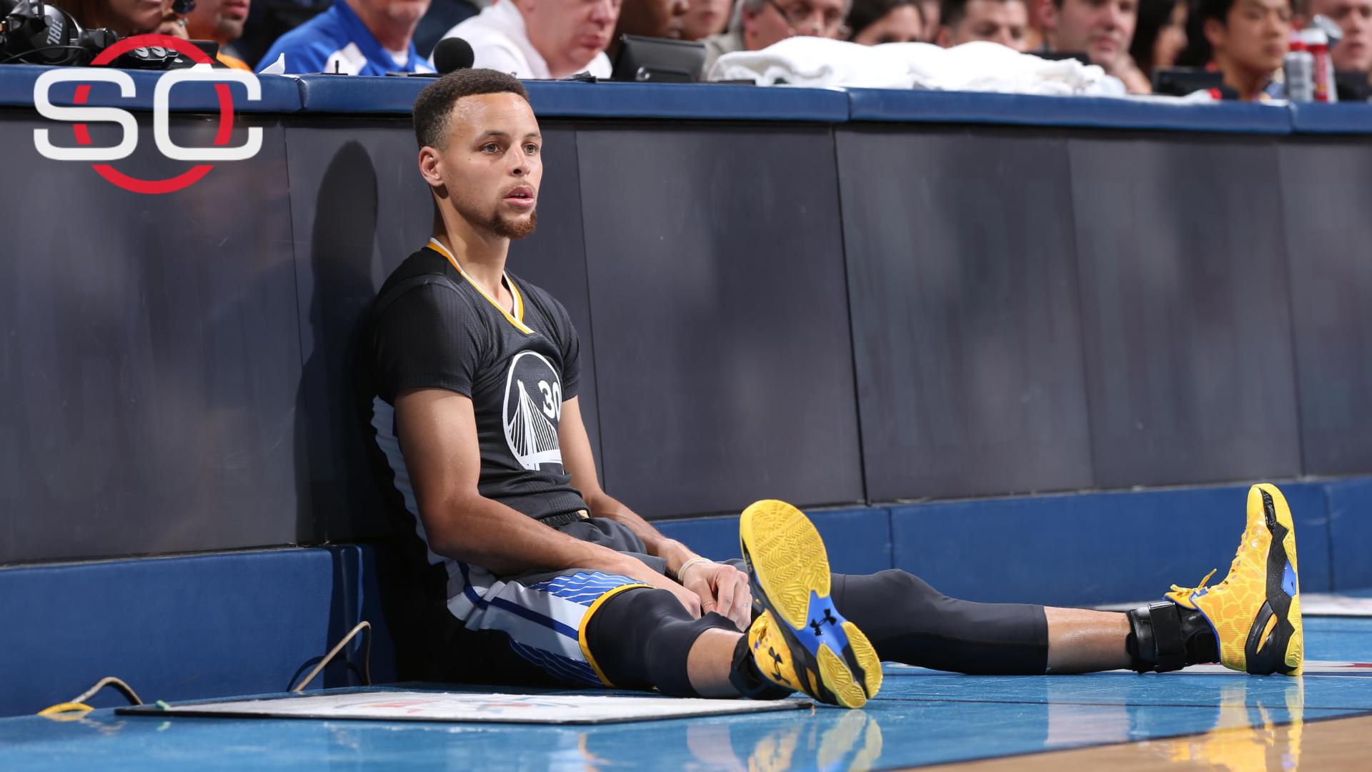 Curry out vs. Hawks