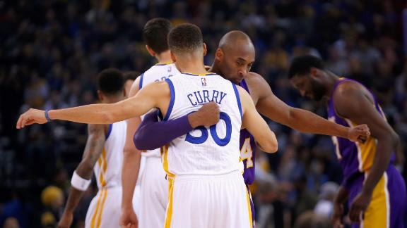 Kobe passes the torch to Curry