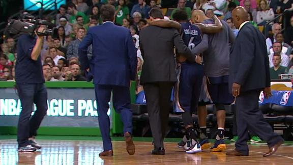 Chalmers leaves game vs. Celtics with leg injury