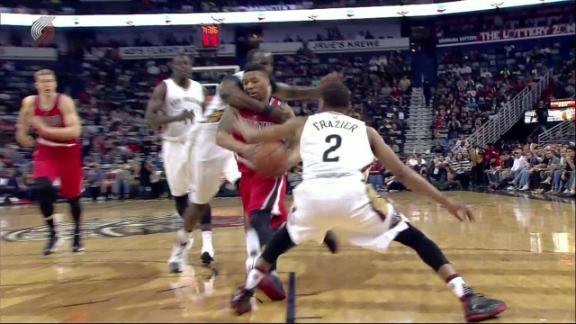 Perkins tossed after dangerous foul on Lillard