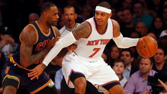 Melo: Cavs a 'comical' drama compared to Knicks
