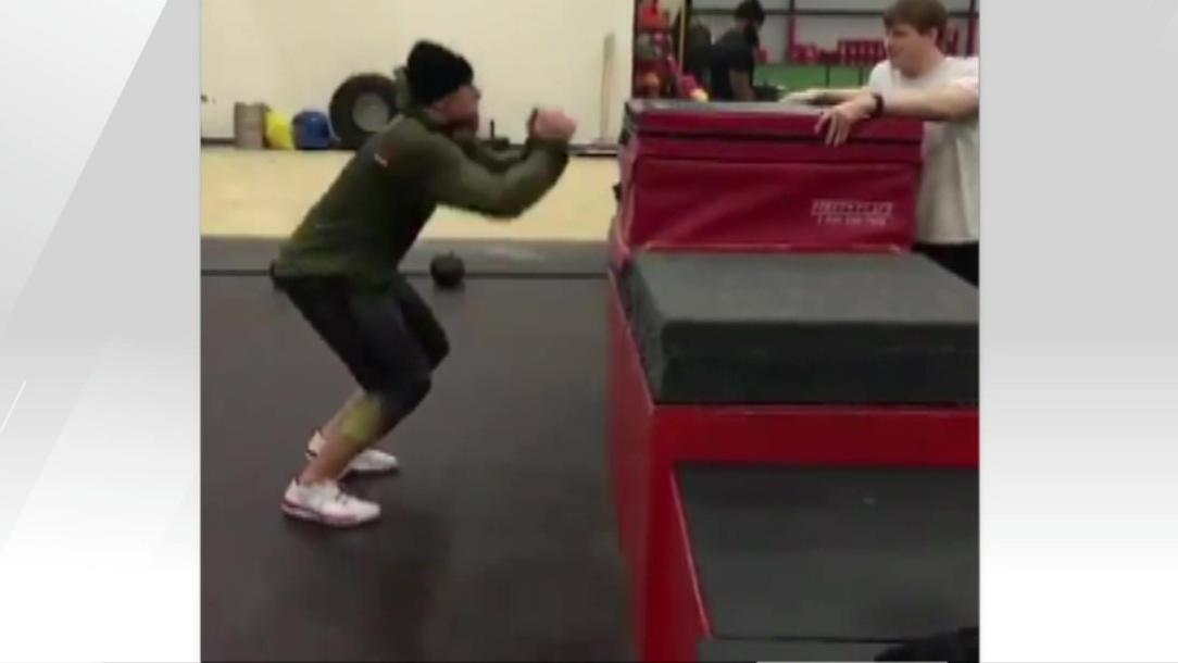 Video - J.J. Watt shows off on box jump post-groin surgery