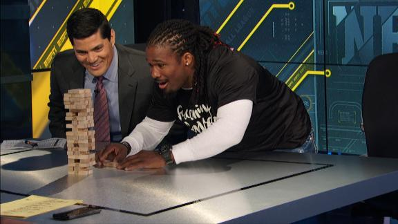 Video - Jenga gets real on NFL Live with DeAngelo Williams