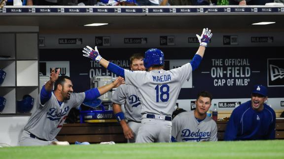 Dodgers pitcher Kenta Maeda homers in debut