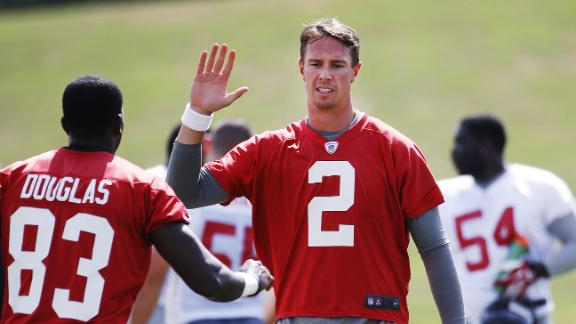 Video - Matt Ryan building chemistry with passing camp