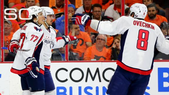 Capitals crush Flyers, take 3-0 series lead