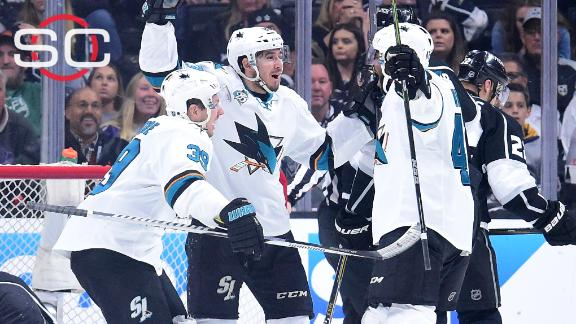Sharks oust Kings after fighting off furious rally