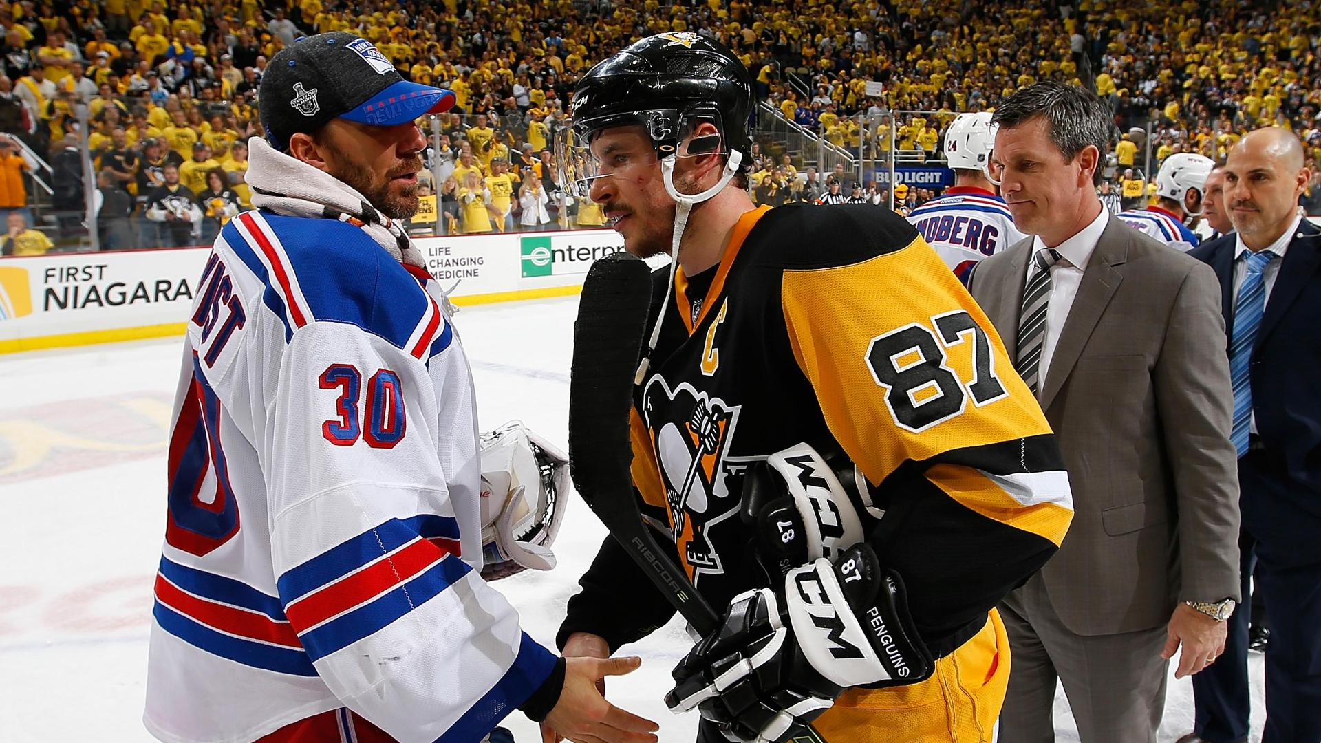 Penguins explode in second to oust Rangers from playoffs