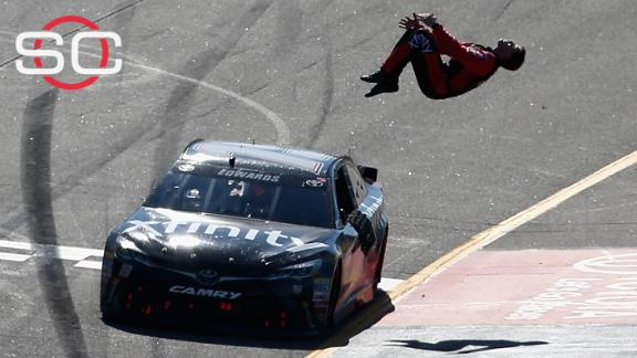 Edwards bumps Busch in last corner for Richmond win