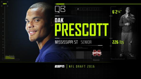 Cowboys draft Dak Prescott, first QB pick since 2009