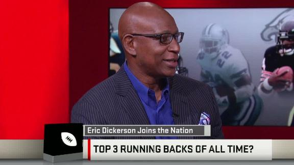 Video - Dickerson ranks his top five RBs of all time