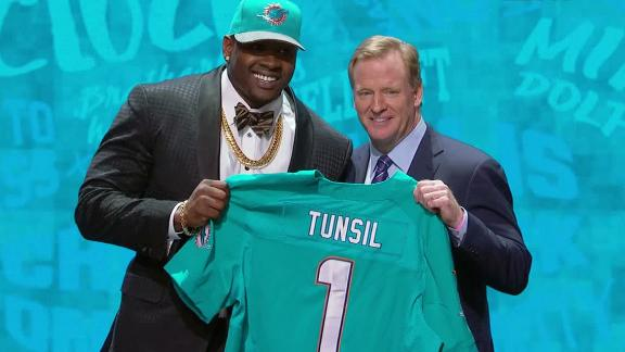 Tunsil falls to Dolphins with 13th pick