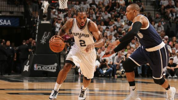 Spurs drop 43 on Thunder in first quarter