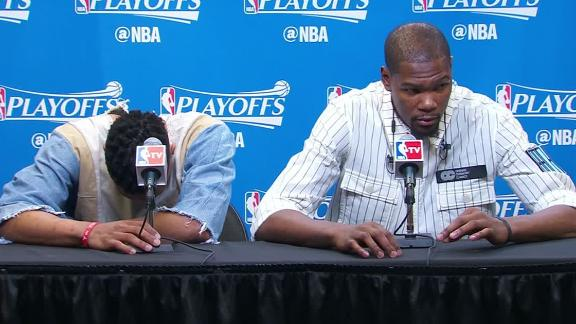 Durant on his emotions: 'I'm not telling you'