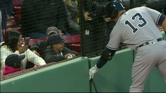 A-Rod makes a friend at Fenway