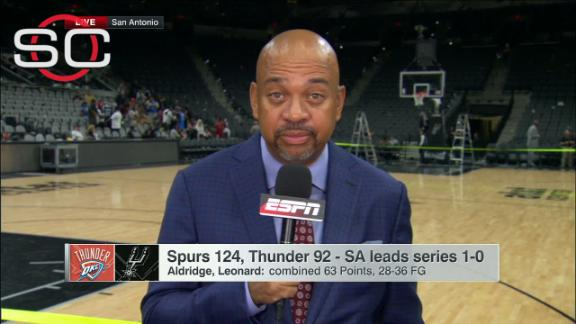 Why were the Spurs so successful in Game 1?