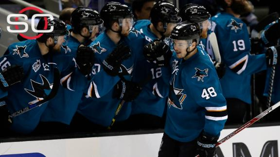 Ward leads Sharks in Game 1 win over Predators