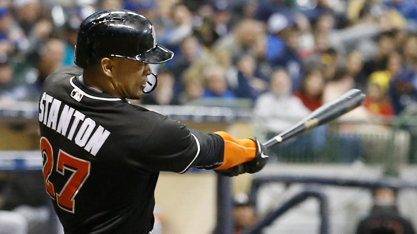 Stanton annihilates another baseball