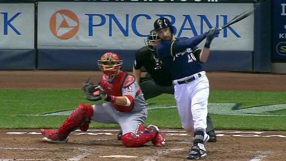 Lucroy drives in two for Brewers