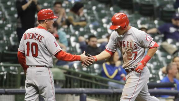 Trout launches a solo shot to center