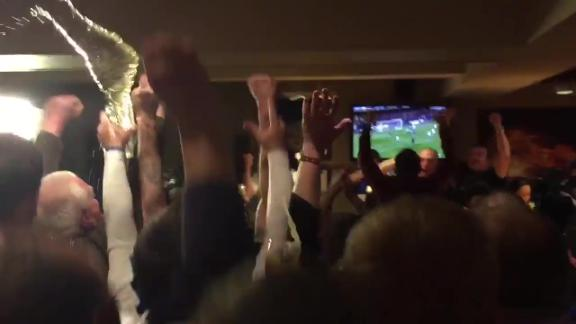 Leicester bar erupts as Chelsea goal puts Foxes minutes from title