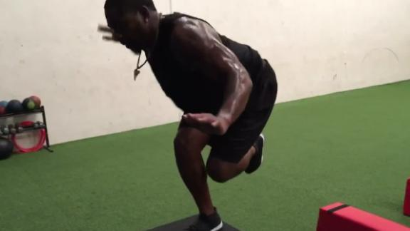 Video - Falcons' Schofield in a rush to get back on the field