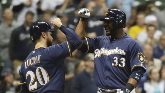 Brewers hit three long balls to rally past Angels