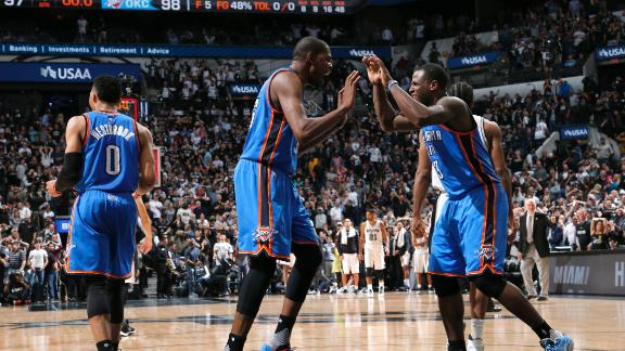 Thunder turn things around in San Antonio