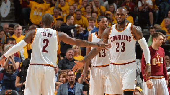 Cavs enjoy 3-for-all in Game 2 rout of Hawks