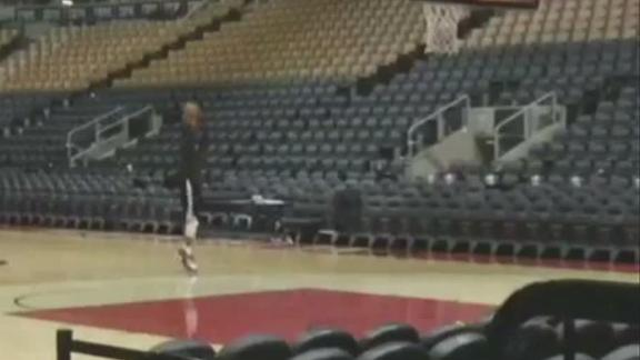 Lowry is still putting up shots postgame