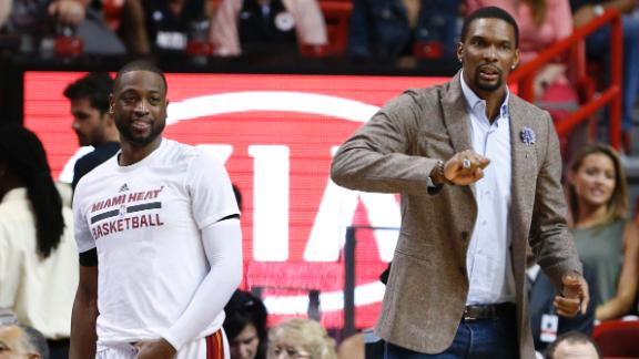 Wade: Bosh moving forward, helping as leader