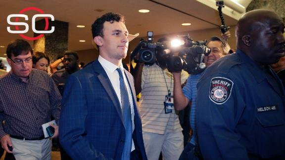 Video - Court date set for Manziel after four minute appearance