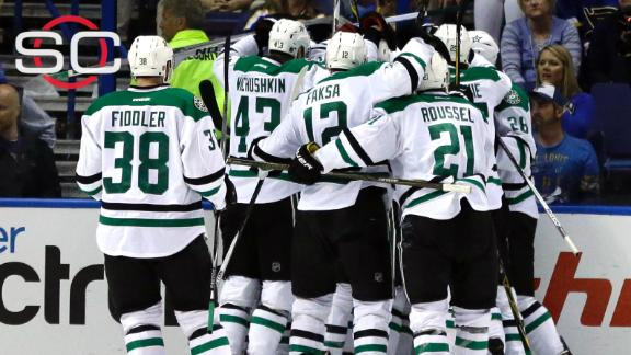 Stars even series on Eakin's OT winner