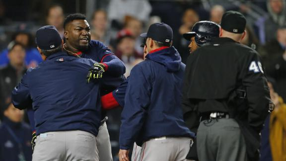 Ortiz tossed after strikeout