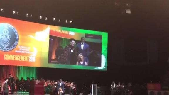 Will Smith's wife accepts his posthumous degree from Miami