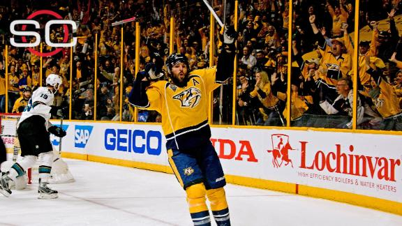 Predators top Sharks in 3OT to even series